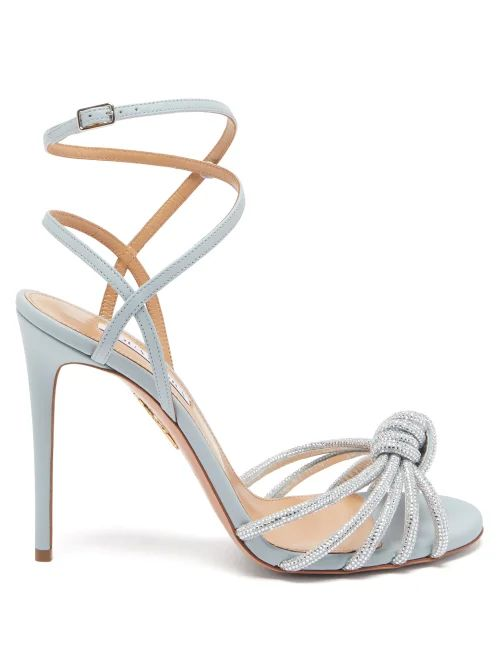 Thierry Colson - Sultane Cotton And Silk Blend Wrap Dress - Womens - Blue