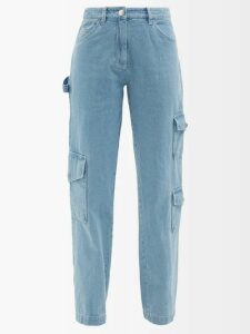 Rebecca De Ravenel - Fortuna Floral Print Button Down Dress - Womens - Blue Multi