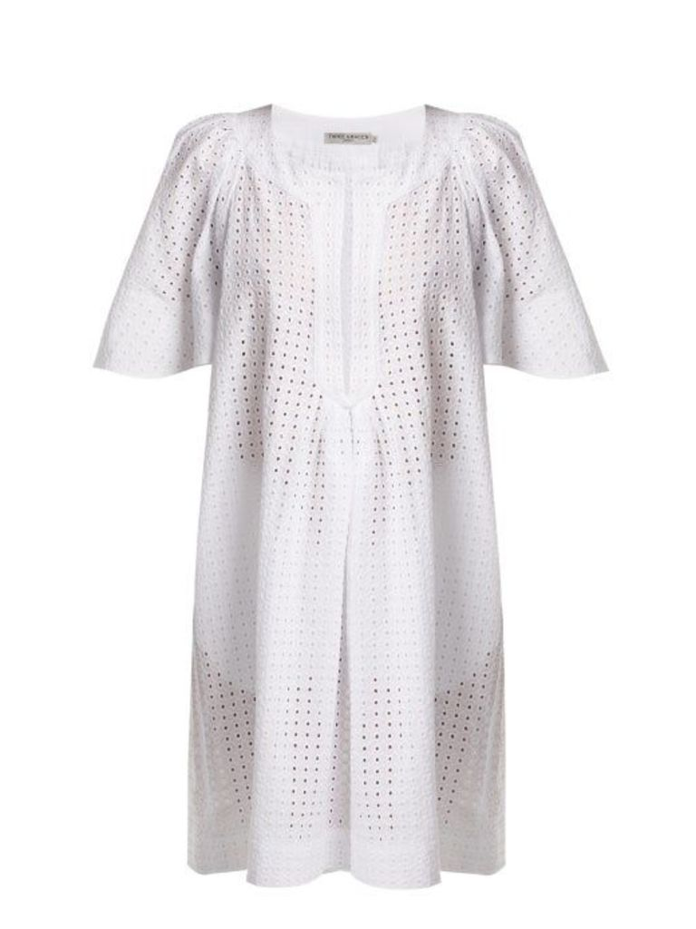 Three Graces London - Prudence Broderie Anglaise Cotton Dress - Womens - White