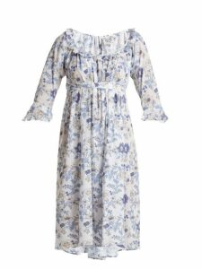 Thierry Colson - Chintz Antoinette Printed Cotton Dress - Womens - Blue White
