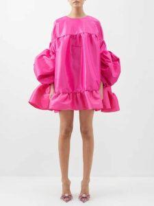 Lisa Marie Fernandez - Arden Ruffle Trim Cotton Blend Dress - Womens - Black Stripe