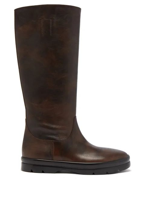 Le Sirenuse, Positano - Corinne Kantha Geometric Embroidered Cotton Dress - Womens - Blue Print