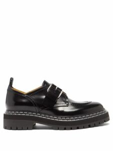 Athena Procopiou - Moonbeams Floral-embroidered Dress - Womens - Black White