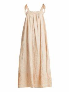 Loup Charmant - Bastille Square Neck Striped Cotton Dress - Womens - Orange Stripe