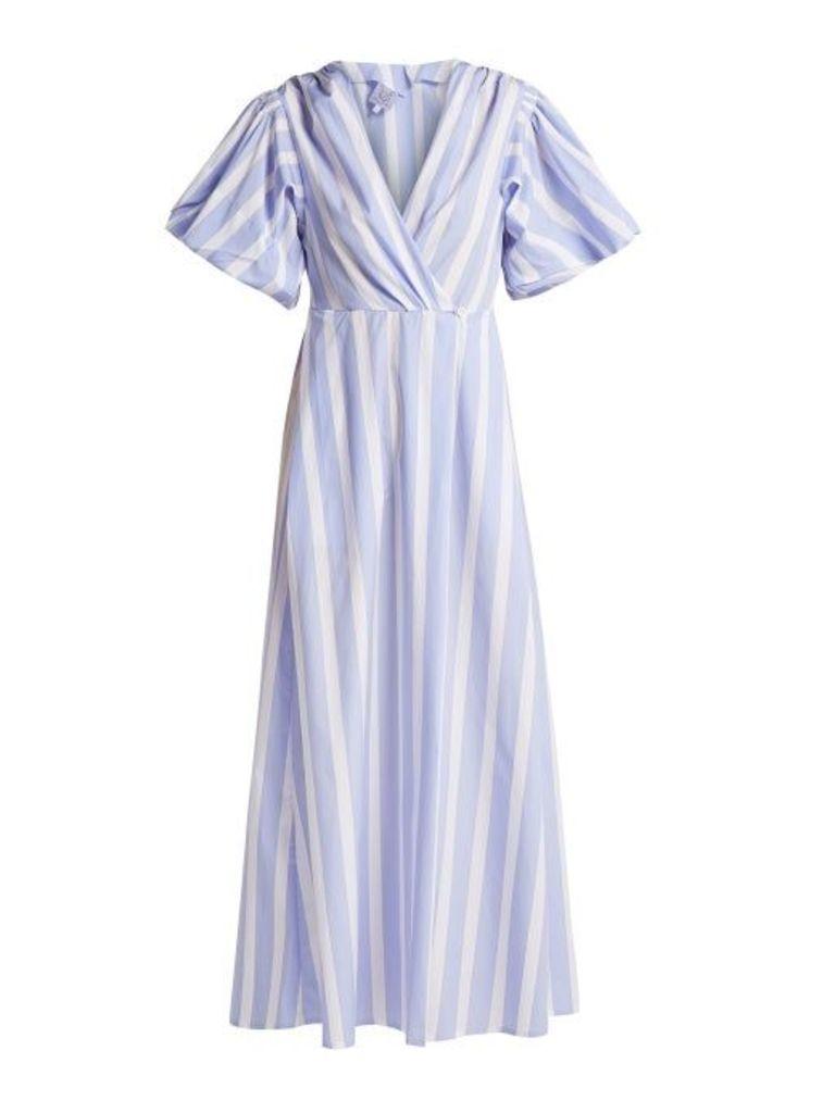 Thierry Colson - Marieke Poplin Dress - Womens - Blue Stripe