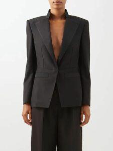 Marysia - Polka Dot Crossover Front Cotton Maxi Dress - Womens - Black Navy
