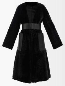 Loup Charmant - Callela Ruffled Silk Wrap Dress - Womens - Red