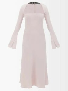 Mes Demoiselles - Tenerife Embroidered Cotton Dress - Womens - Blue
