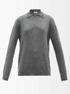Figue - Milagro Polka Dot Silk Satin Shirt - Womens - Burgundy