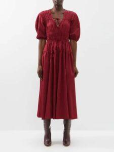 Gül Hürgel - Bead Embellished Floral Print Dress - Womens - Blue Print