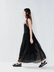 Juliet Dunn - Sequin Embellished Silk Dress - Womens - Blue
