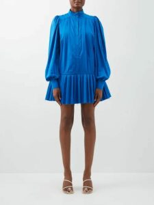 Le Sirenuse, Positano - Sun Arlechino Print Cotton Shirt - Womens - Blue Multi