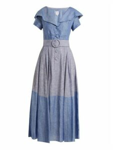 Gül Hürgel - Linen And Cotton Blend Dress - Womens - Blue