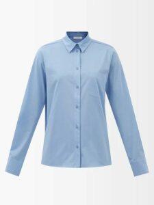 Gül Hürgel - Belted Embroidered Linen Dress - Womens - White