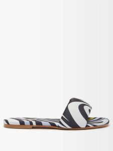 Athena Procopiou - Moonbeams Floral Embroidered Dress - Womens - Black White