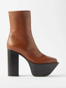 Gioia Bini - Camilla Ruffle Trimmed Dress - Womens - Blue Multi