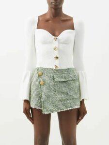 Raf Simons - Oversized Striped Cotton Poplin Shirt - Womens - Brown Stripe