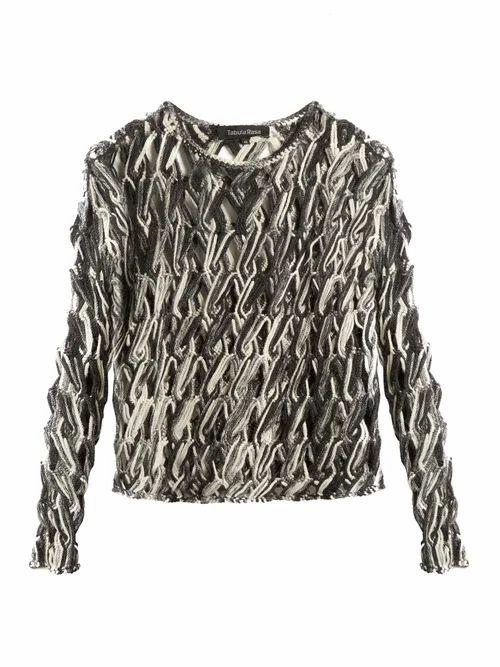 Tabula Rasa - Lela Hand Macramé Knit Top - Womens - Grey Multi