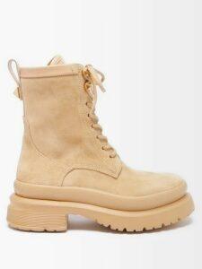 Tabula Rasa - Anat Asymmetric Neckline Cotton Dress - Womens - Red