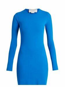 Esteban Cortázar - Cut Out Back Crepe Knit Dress - Womens - Blue