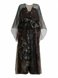 Zandra Rhodes - Summer Collection The 1973 Field Of Lilies Gown - Womens - Black Multi