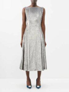 Balenciaga - V Neck Dress - Womens - Black