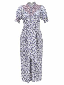 Roland Mouret - Lydney Leopard Brocade Dress - Womens - Silver