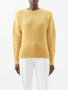 Brock Collection - Polka Dot Print Button Down Silk Dress - Womens - Black Print