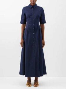 Adriana Iglesias - Mermaid Soho Floral Print Stretch Silk Gown - Womens - Black Gold
