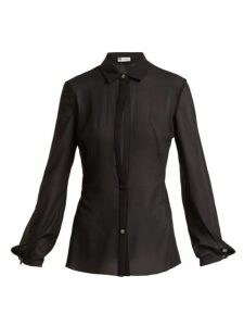 Lanvin - Sheer Silk Blend Shirt - Womens - Black