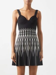 Jw Anderson - Off The Shoulder Striped Cotton Dress - Womens - Cream Multi