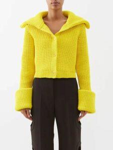 Mm6 Maison Margiela - Contrast Panel Gingham Cotton Dress - Womens - Black Multi