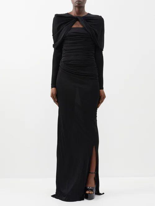 Mary Katrantzou - Ilona Pleated Sequined Skirt - Womens - Multi