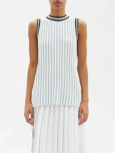 Mary Katrantzou - Ilona Pleated Sequined Skirt - Womens - Multi