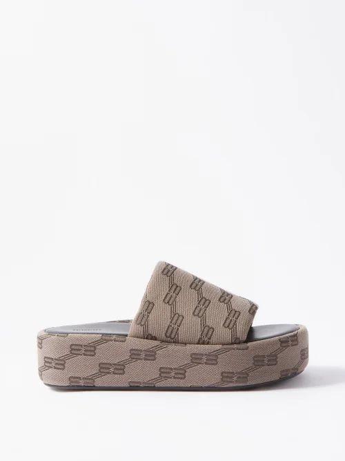 Roksanda - Jeira Graphic Print Skirt - Womens - Navy Multi