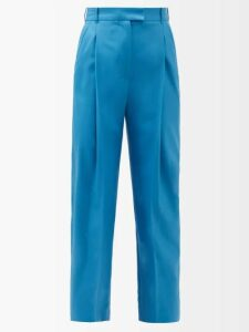 Roksanda - Jeira Graphic Print Skirt - Womens - Navy Multi