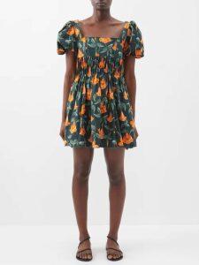 Carl Kapp - Luna Wool Crepe Dress - Womens - Navy