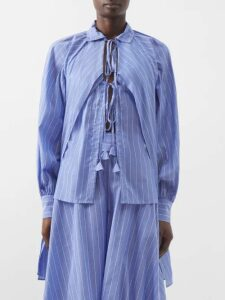 Proenza Schouler Pswl - Faux Shearling Trim Canvas Coat - Womens - Khaki