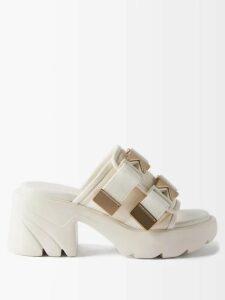 Toga - Intarsia Knit Wool Sweater - Womens - White Multi