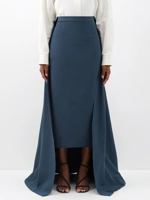 Alexachung - Houndstooth Wool Blend Coat - Womens - Black White