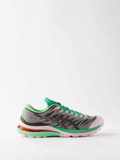 Raey - Slit Front Denim Maxi Pencil Skirt - Womens - Black