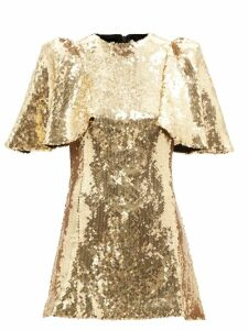 Preen Line - Clementina Vine And Floral Print Crepe Dress - Womens - Red Print