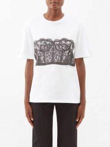 Preen By Thornton Bregazzi - Ariel Floral And Block Print Satin Devoré Dress - Womens - Yellow Multi