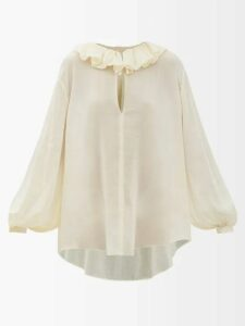 Lemaire - Hammered Silk Blend Dress - Womens - Light Pink