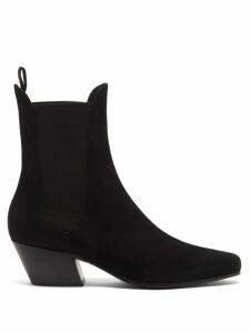 La Doublej - Chemisier Libellule Print Pleated Shirtdress - Womens - Yellow Multi