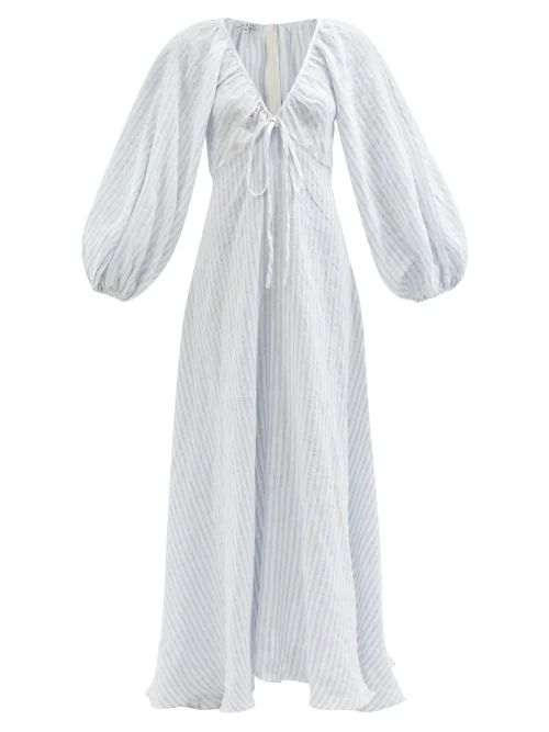 Erdem - Verna Rose Jacquard Gown - Womens - Yellow Multi