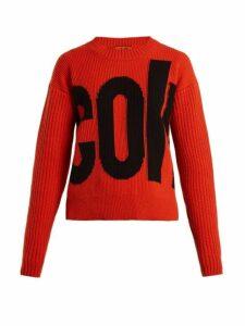 Colville - Logo Wool Sweater - Womens - Orange Multi