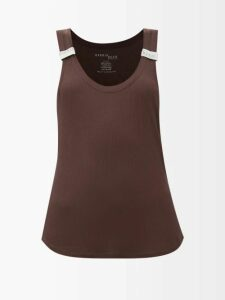 Altuzarra - Sorrel Button Embellished Wool Blend Pencil Skirt - Womens - Light Grey