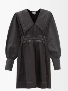 Acne Studios - Bahari Open Back Floral Print Satin Top - Womens - Ivory Multi