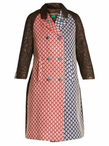 Duro Olowu - Patchwork Brocade Double Breasted Coat - Womens - Multi